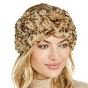 Accessories - Leopard Faux Fur Headband